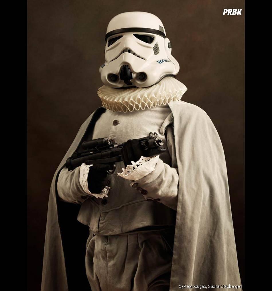 """O Stormtrooper vai fazer sucesso em """"Star Wars"""" com essa pinta toda!"""
