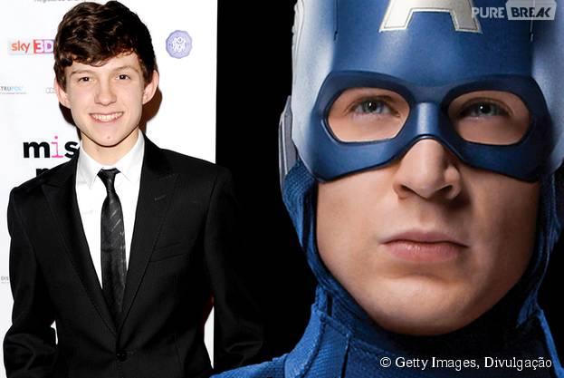 """Tom Holland e Chris Evans vão dividir a cena em """"Capitão América 3"""""""