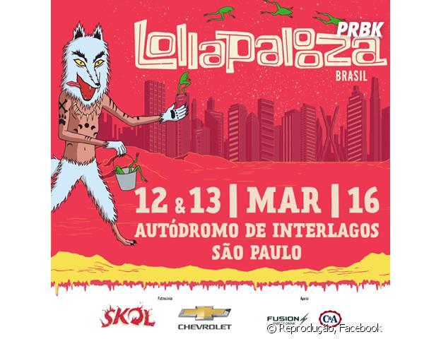 O Lollapalooza acontece nos próximos dias 12 e 13 de março de 2016