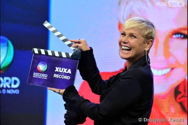 Xuxa fala sobre Record, Globo e novo programa em contato com a imprensa