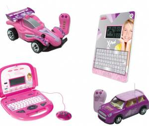Os brinquedos da Xuxa ficaram mais modernos e viraram laptops, tablets (ou melhor, X-Pad) e carrinhos motorizados