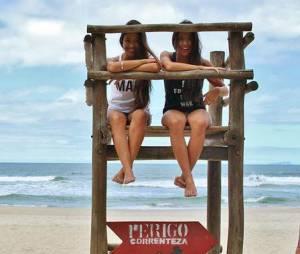 Tanto Tayna, namorada de Gabriel Medina, quanto Mayara amam surfar e são adeptas ao esporte desde novinhas
