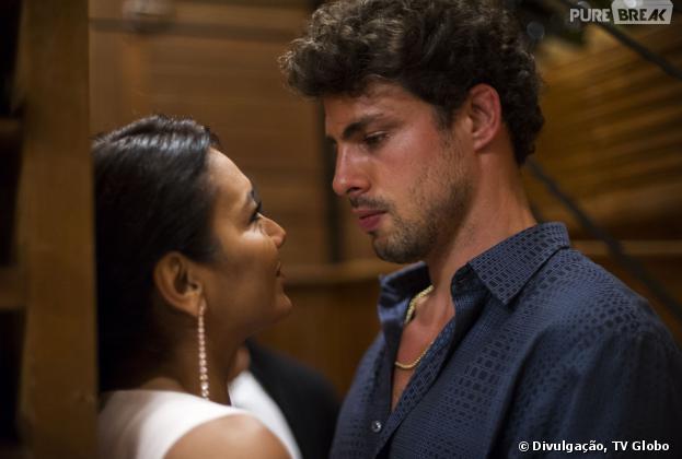 """Leandro (Cauã Reymond) e Celeste (Dira Paes) vivem um romance impossível em """"Amores Roubados""""!"""