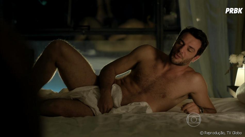 Durante toda a novela o público pirou no corpor de Rodrigo Lombardi (Alex)