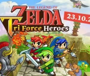 """Em """"The Legend Of Zelda: Tri Force Heroes"""": veja como os Links trabalharão para formar um totem"""