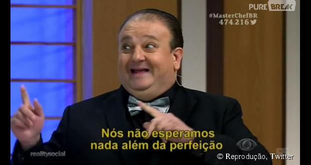 """O jurado Erick Jacquin, do """"MasterChef Brasil"""", já virou meme logo ao começar a falar"""