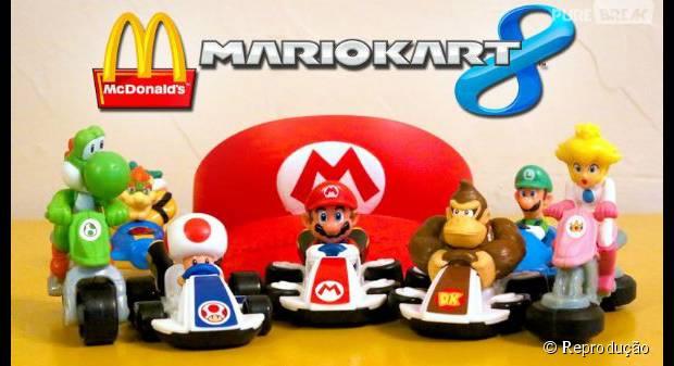 """Game """"Mario Kart 8"""" será inspiração para os próximos brindes do Mc Lanche Feliz"""