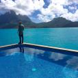 Justin Bieber publicou uma foto curtindo Bora Bora antes de seus nudes caírem na web