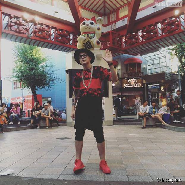 MC Gui no Japão: além de trabalhar, o cantor aproveitou para passear