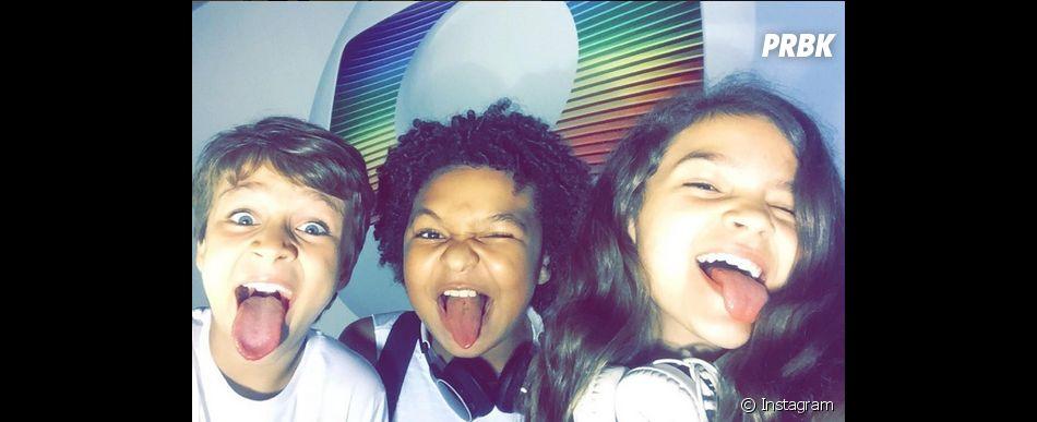 """No Instagram, Mel Maia, de """"Além do Tempo"""", comemora participação na """"Dancinha dos Famosos 2015"""" ao lado de JP Rufino eVitor Figueiredo"""