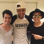 """Sam Alves e MC Gui gravam """"Altas Horas"""" e compartilham fotos dos bastidores no Instagram"""