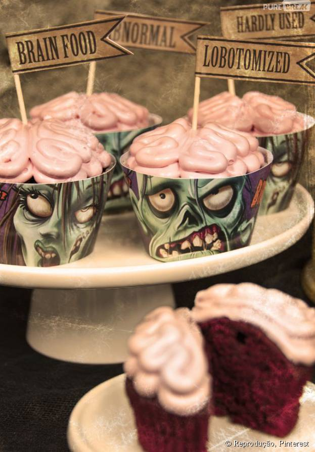 No Halloween, vai encarar esses cupcakes? Veja outras comidas para divertir na sua festa de Dia das Bruxas!