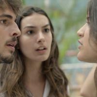 """Novela """"Malhação"""": Lívia (Giulia Costa) flagra Luciana e Roger juntos e arma barraco!"""