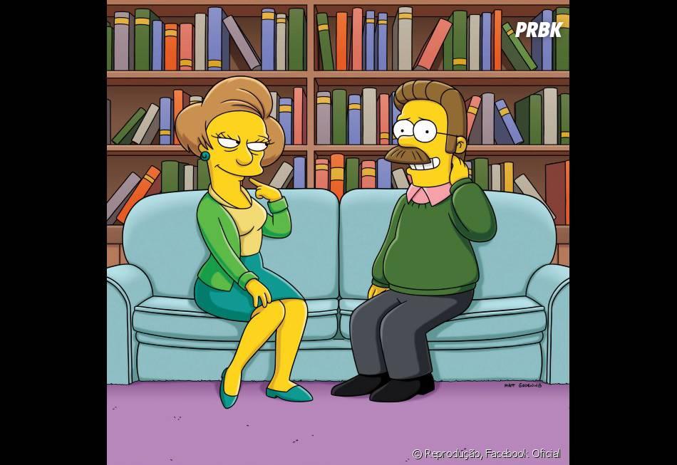 """A professora Edna (à esquerda) pode bater as botas em """"Os Simpsons"""""""