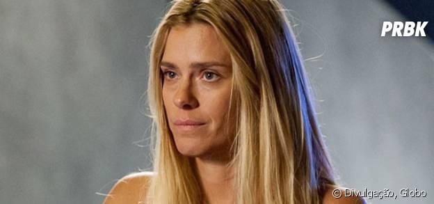 """Novela """"A Regra do Jogo"""": Lara (Carolina Dieckmann) fica chocada com declaração de amor de Dante (Marco Pigossi)"""
