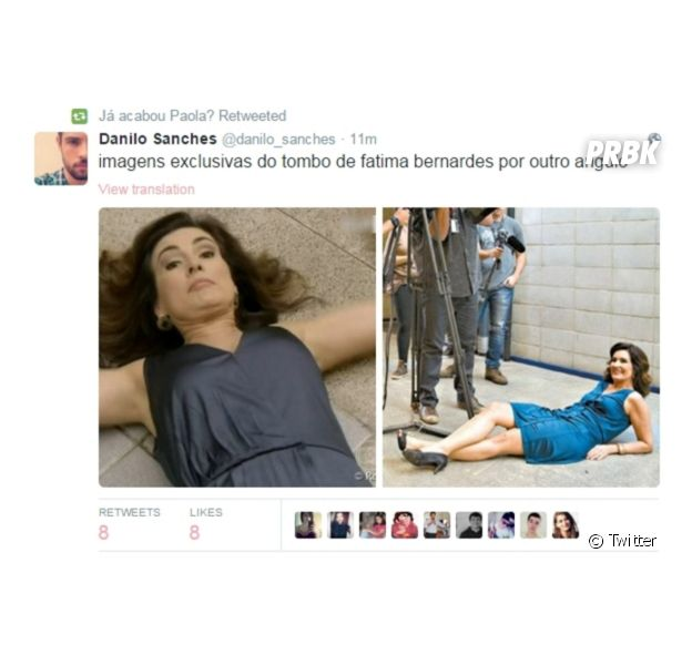 Para quem perdeu o tombo de Fátima Bernardes, aqui tem imagens de outros ângulos
