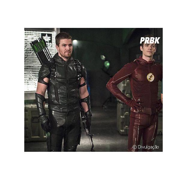 """Em """"The Flash"""" e """"Arrow"""", crossover terá muita emoção e conflitos entre Oliver e Felicity!"""