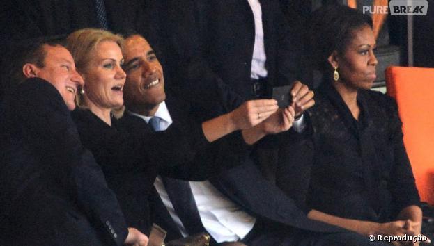 Obama já deve US$ 1 por essa selfie no funeral de Nelson Mandela