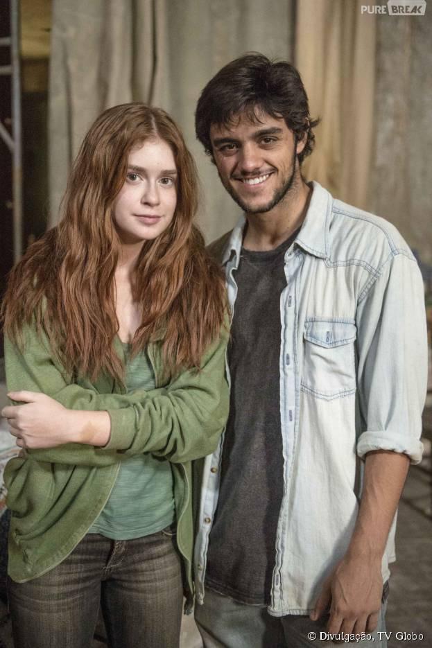 """Marina Ruy Barbosa, na novela """"Totalmente Demais"""", fala sobre primeira vez de Eliza e Jonatas (Felipe Simas)"""