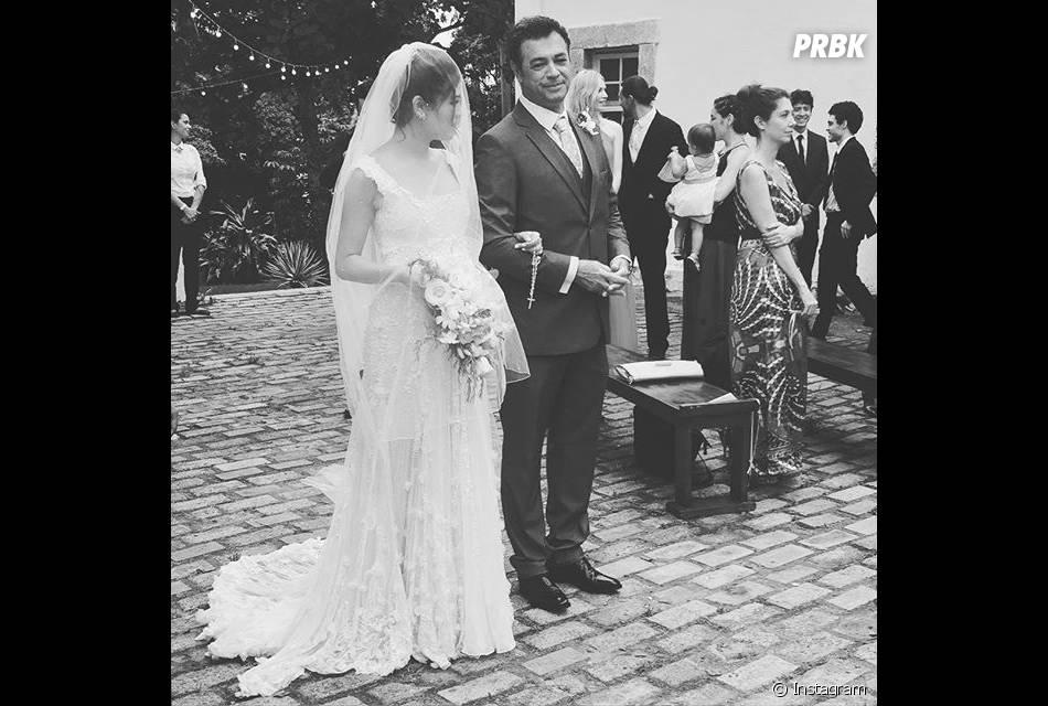 A atriz Luma Costa também postou fotos do casamento de Sophie Charlotte e Daniel de Oliveira