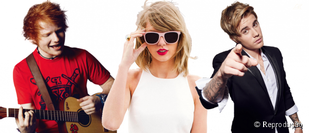 Ed Sheeran, Taylor Swift e Justin Bieber disputam prêmio no Grammy