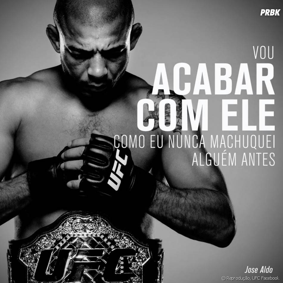 """José Aldo, no card principal do """"UFC 194"""" promete não pegar leve com McGregor"""