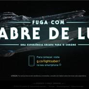 """De """"Star Wars XII"""": Google libera game """"Fuga com Sabre de Luz"""" para jogar no celular e computador!"""
