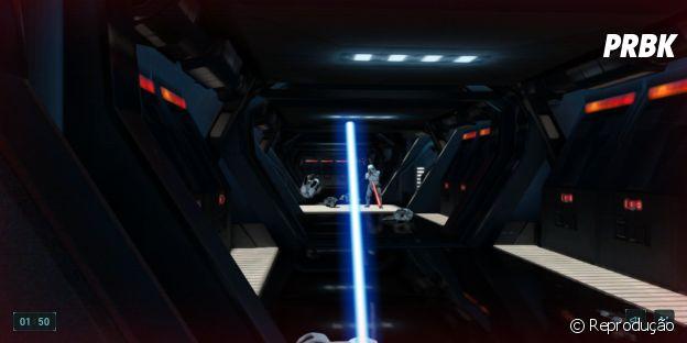 """De """"Star Wars XII"""": """"Fuga com Sabre de Luz"""" é um game gratuito para jogar no celular e computador!"""