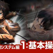 """Jogo """"Attack on Titan"""" ganha três novos vídeos com trechos do gameplay"""