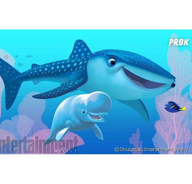 Uma peixe-tubarão e um beluga serão os companheiros de Dory no novo longa animado!