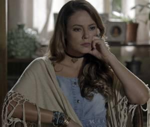 """Em """"Além do Tempo"""": Melissa (Paolla Oliveira) ainda tem muitos planos para acabar com a felicidade de Felipe (Rafael Cardoso) e Lívia (Alinne Moraes)"""