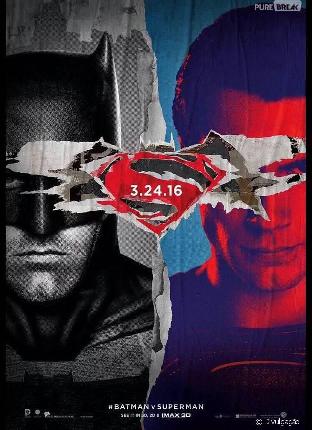"""""""Batman Vs Superman: A Origem da Justiça"""" ganhou um novo cartaz unificado"""