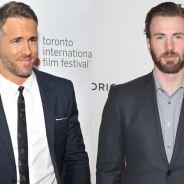 """Ryan Reynolds, de """"Deadpool"""", diz que bunda de Chris Evans é melhor que a sua: """"É o Capitão América"""""""