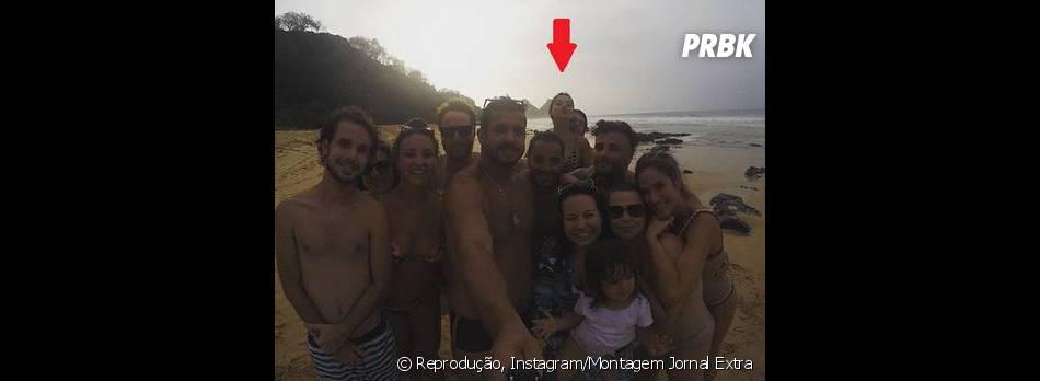 Giovanna Lancellotti e Gian Luca não se desgrudam mais! Olha os pombinhos ali atrás!