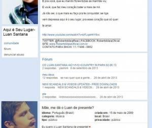 Luan Santana era um artista em começo de carreira que já era amado por multidões no Orkut