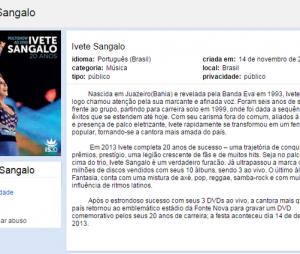 Ivete Sangalo é uma das artistas mais amadas do Brasil e não podia deixar de ter uma comunidade no Orkut