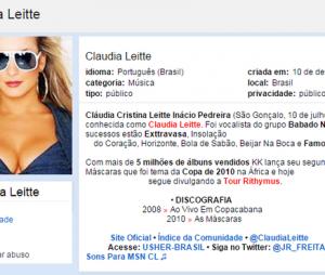 """Claudia Leitte, do """"The Voice Brasil"""", não era tão zoada assim na época do Orkut"""