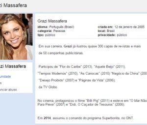 Grazi Massafera já era amada pelos internautas desde quando o Orkut ainda existia