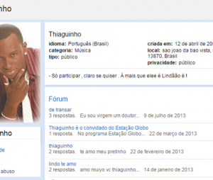 Thiaguinho já colecionava muitos fãs na época do Orkut