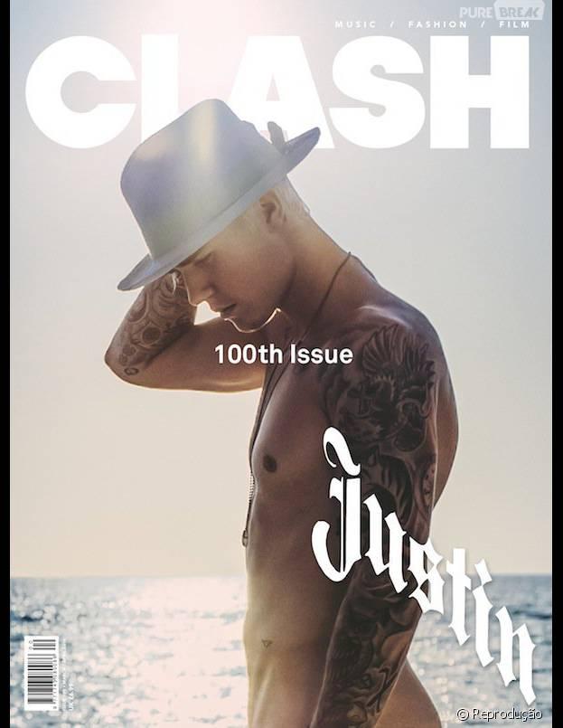 Justin Bieber aparece pelado em capa de revista britânica! Confira