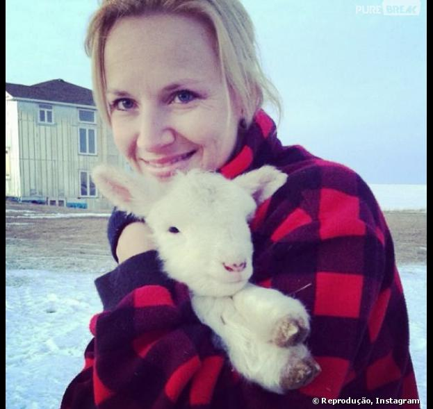 Se você prefere animais fofinhos, pode usar ovelhinha na sua felfie