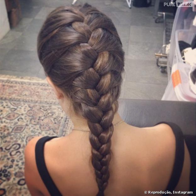 Lua Blanco compartilha o penteado do dia com os fãs