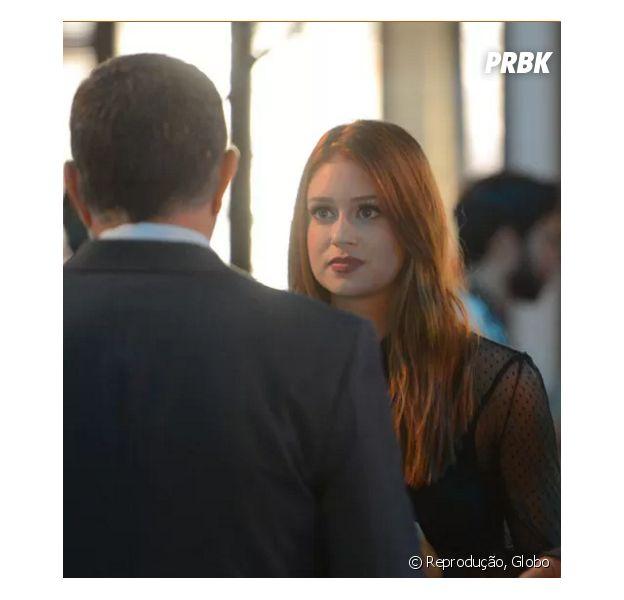 "Novela ""Totalmente Demais"": Eliza (Marina Ruy Barbosa) descobre que Germano (Humberto Martis) é seu pai biológico!"