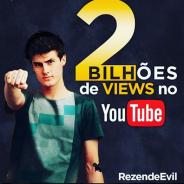 Pedro Afonso, do canal RezendeEvil, é o primeiro youtuber brasileiro a alcançar 2 bilhões de views!