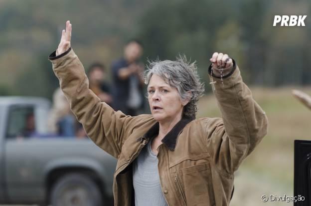 "Carol (Melissa McBride) foi resgatada por Morgan (Lennie James) em ""The Walking Dead"""