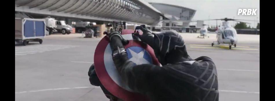 """Um comercial recente de """"Capitão América 3: Guerra Civil"""" mostra o Pantera Negra (Chadwick Boseman)"""