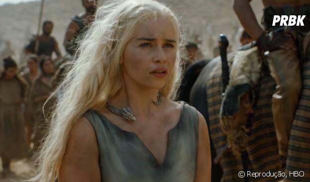 "Em ""Game of Thrones"", Daenerys Targaryen (Emilia Clarke) está presa!"