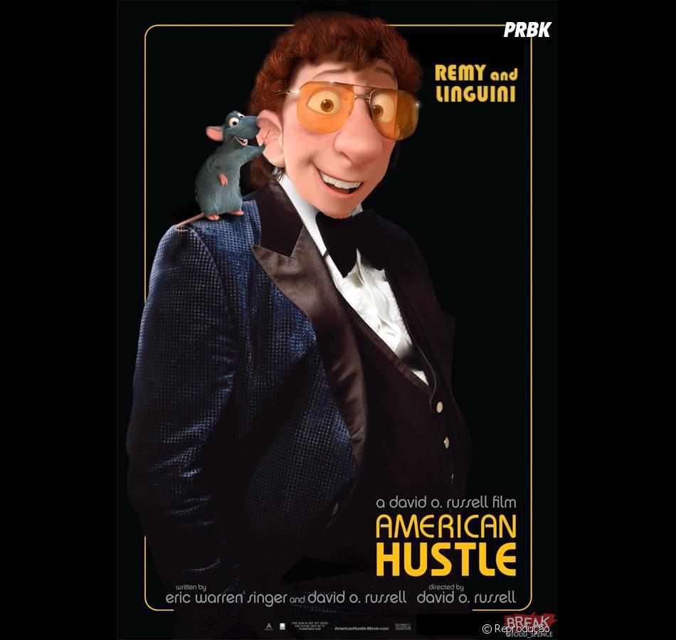 "Já ""Ratatouille"" imita Christian Bale em ""Trapaça"""