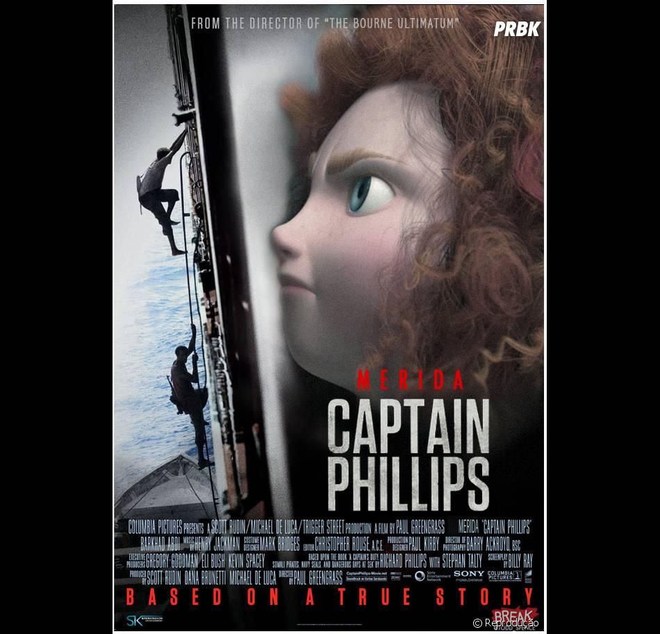 """A princesa de """"Valente"""", Merida, substitui Tom Hanks em """"Capitão Phillips"""""""