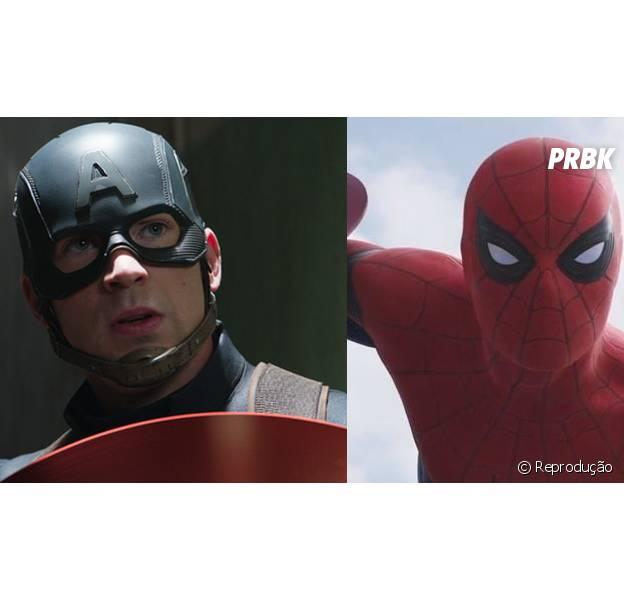 """Chris Evans elogia Tom Holland, o Homem-Aranha de """"Capitão América 3: Guerra Civil"""""""